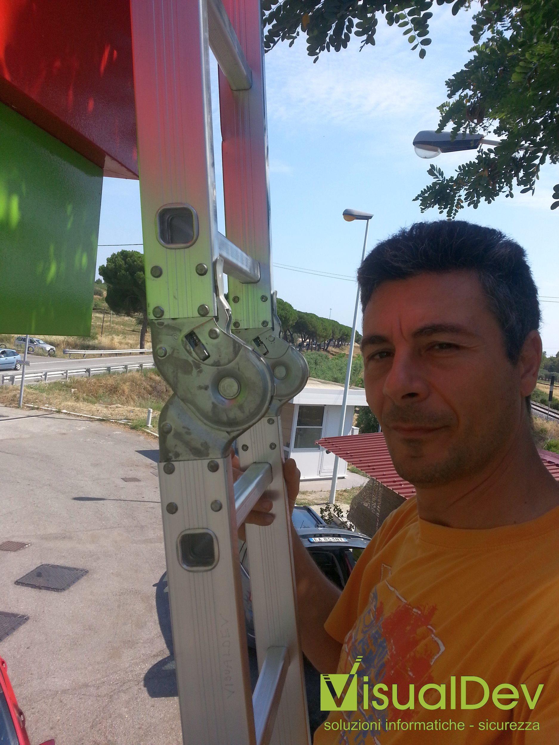 Manutenzione impianto tvcc stazione di servizio
