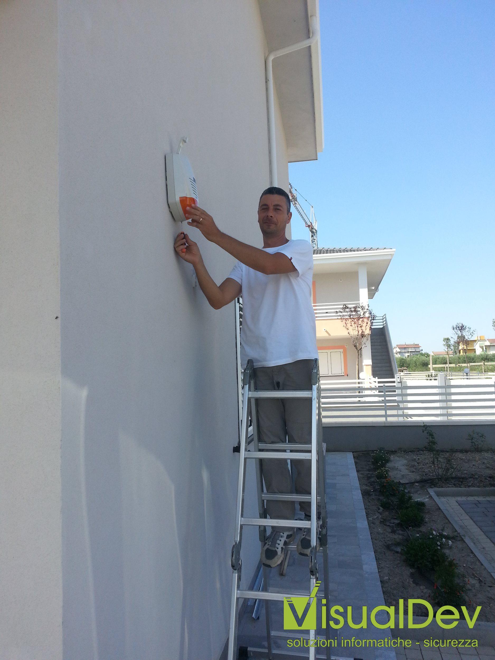 Installazione residenziale sirena Risco Prosound
