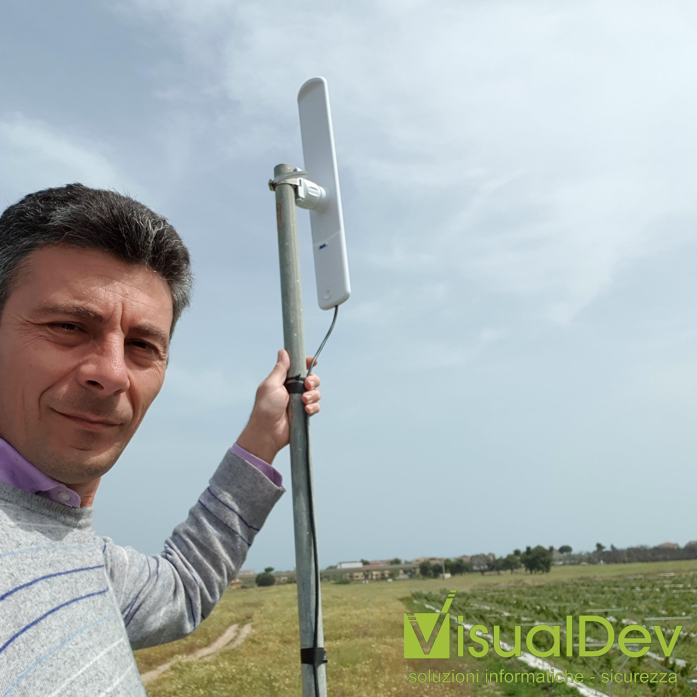 Impianto wireless point to multipoint per trasmissione segnale telecamere IP con Ubiquiti LiteAP