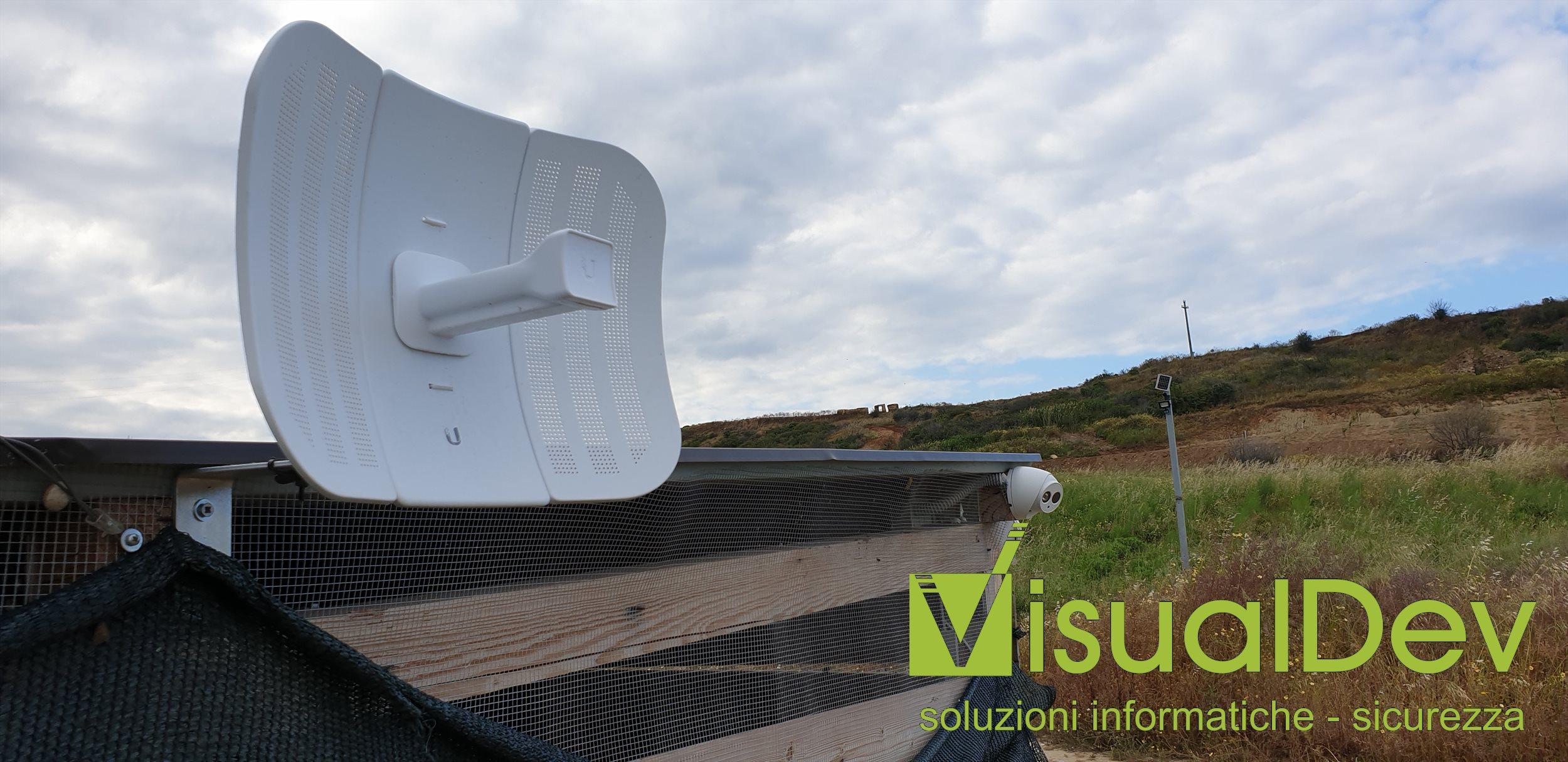 Ponte radio 5Ghz per impianto videosorveglianza con analisi video con Ubiquiti Litebeam